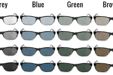 Tinted Lenses Colors for Glasses and Sunglasses