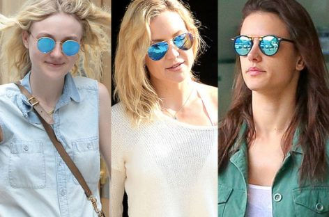 Catchy and Reflective Blue Mirror Sunglasses in Summer